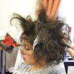 Vlasová proměna modelky