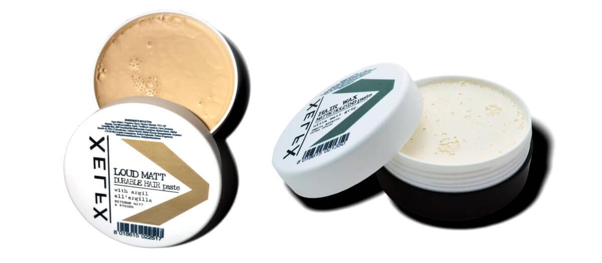 Xflex hlína na vlasy a Xflex matná pasta