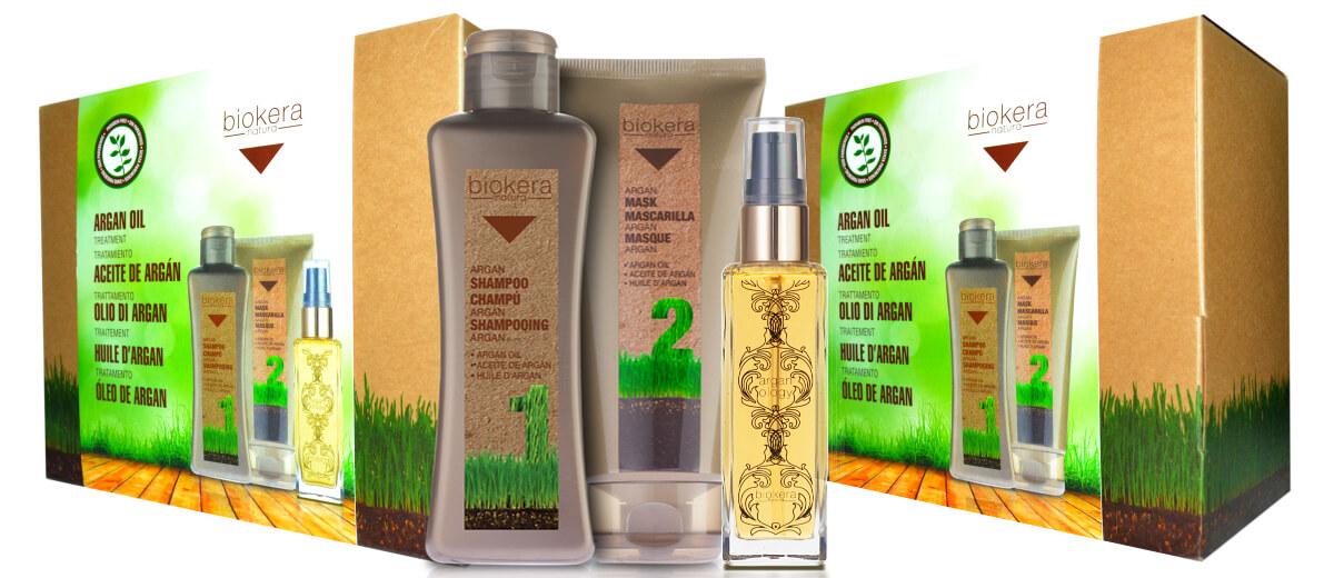 Biokera Natura Argan Oil pro výživu vlasů a každodenní mytí vlasů