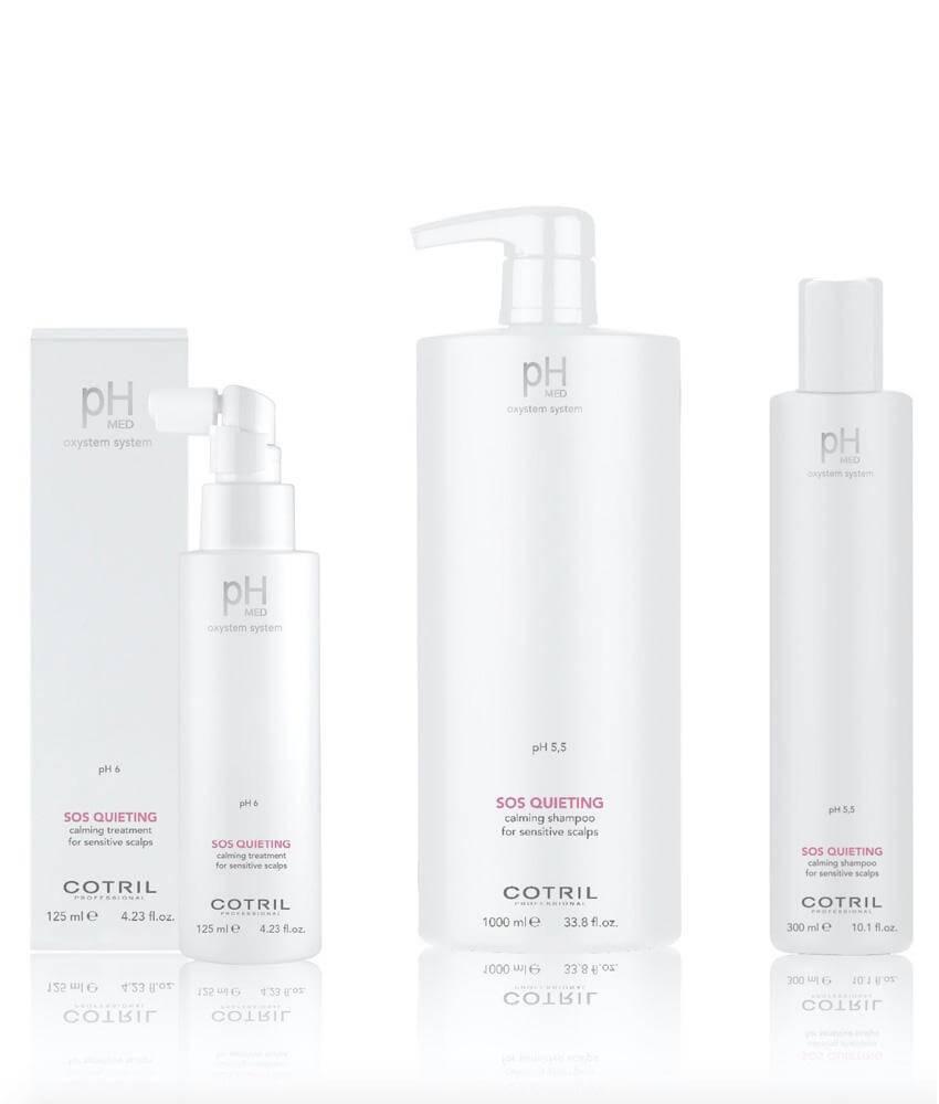 Cotril pH Med SOS Quieting pro zklidnění citlivé, svědivé a podrážděné vlasové pokožky