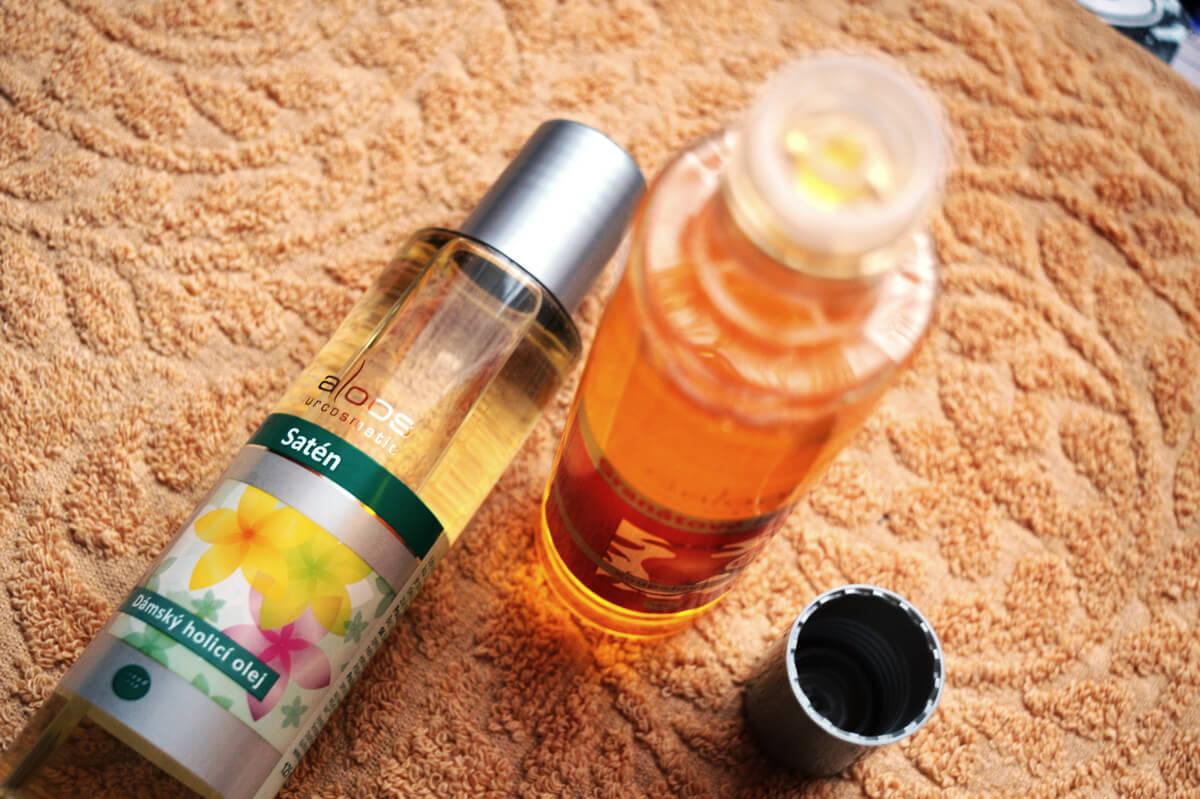 Dámský holící olej Saloos Satén & Koupelový olej Saloos Granátové jablko