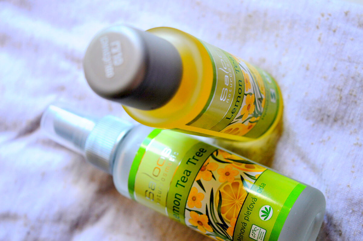 Saloos Lemon Tea Tree pleťová voda a odličovací olej