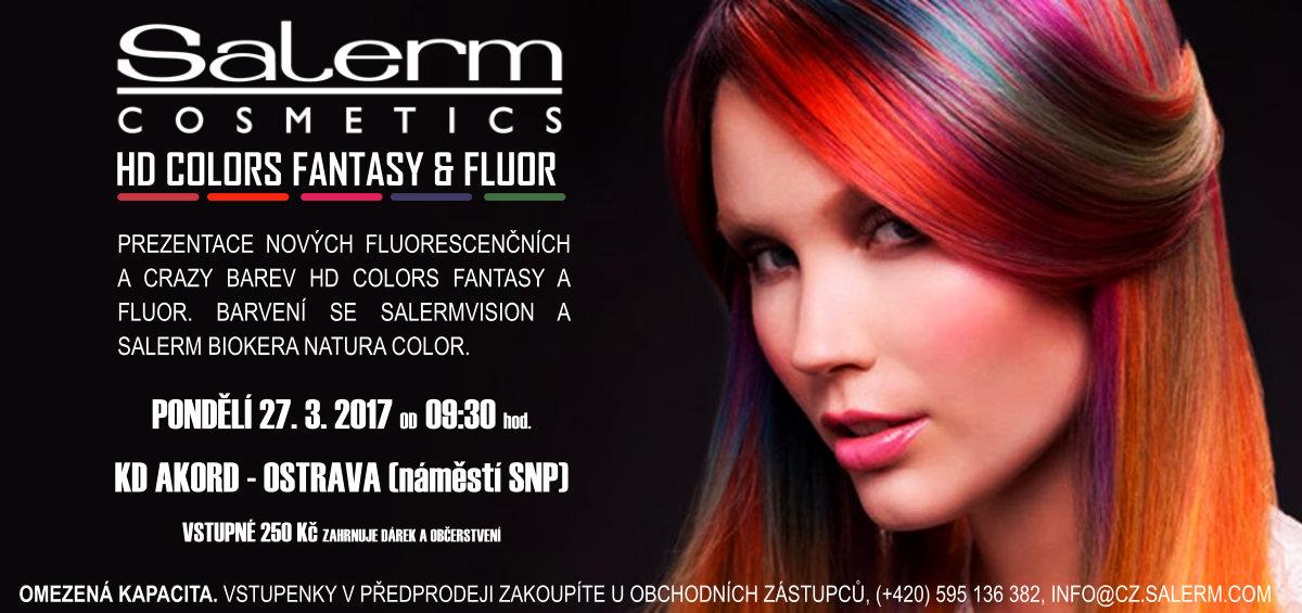 Pozvánka na prezentaci nových barev Salerm HD Colors Fluor & Fantasy