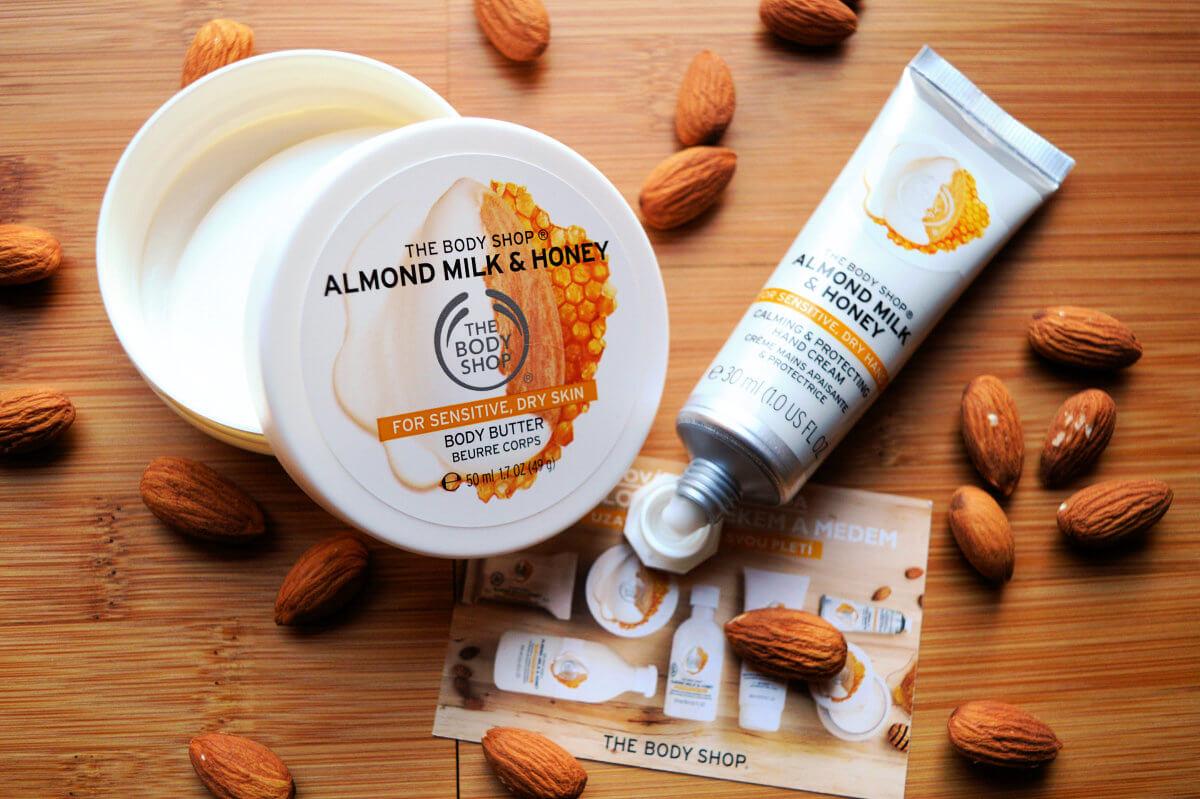 Tělové máslo a krém na ruce The Body Shop Almond Milk & Honey