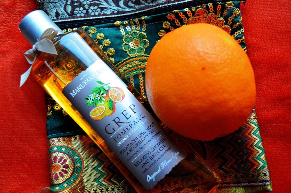 Manufaktura relaxační sprchový a koupelový gel Grep & Pomeranč