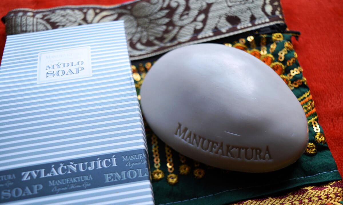 Manufaktura rostlinné mýdlo-kámen s bambuckým máslem a mandlovým olejem
