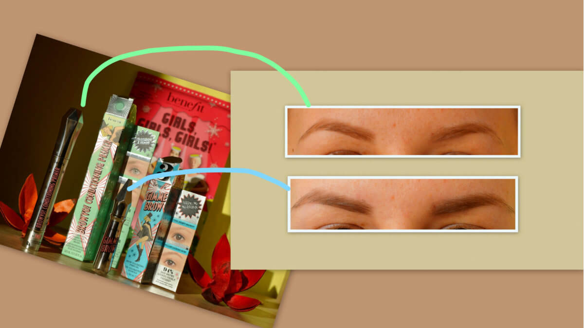 Aplikace Benefit Browvo! a Benefit Gimme Brow
