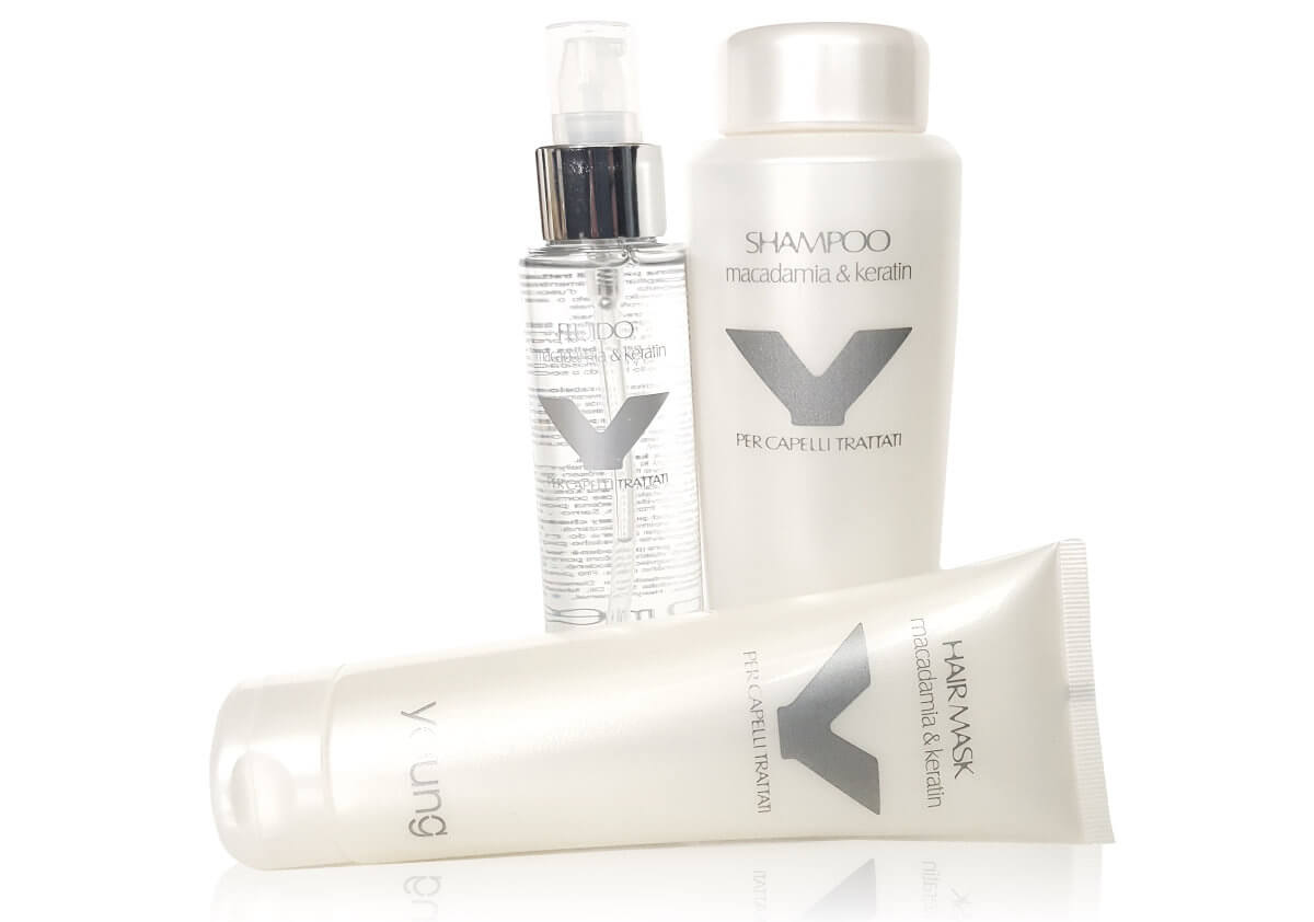 Young Macadamia & Keratin pro chemicky ošetřované vlasy