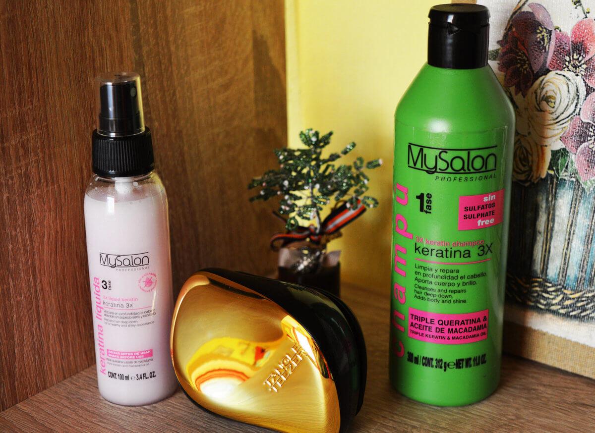 MySalon 3xKeratin posilující šampón a bezoplachové sérum na vlasy