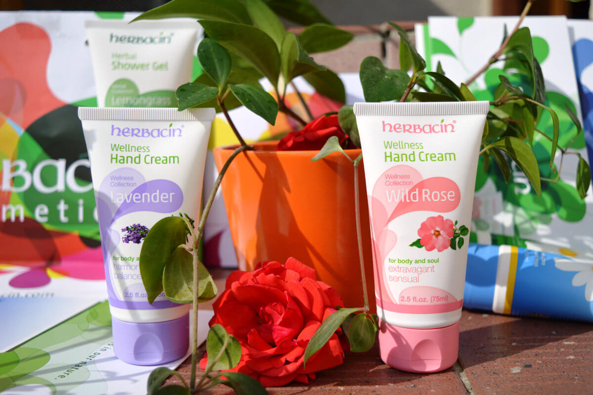 Herbacin vyživující krémy na ruce s levandulí a růží