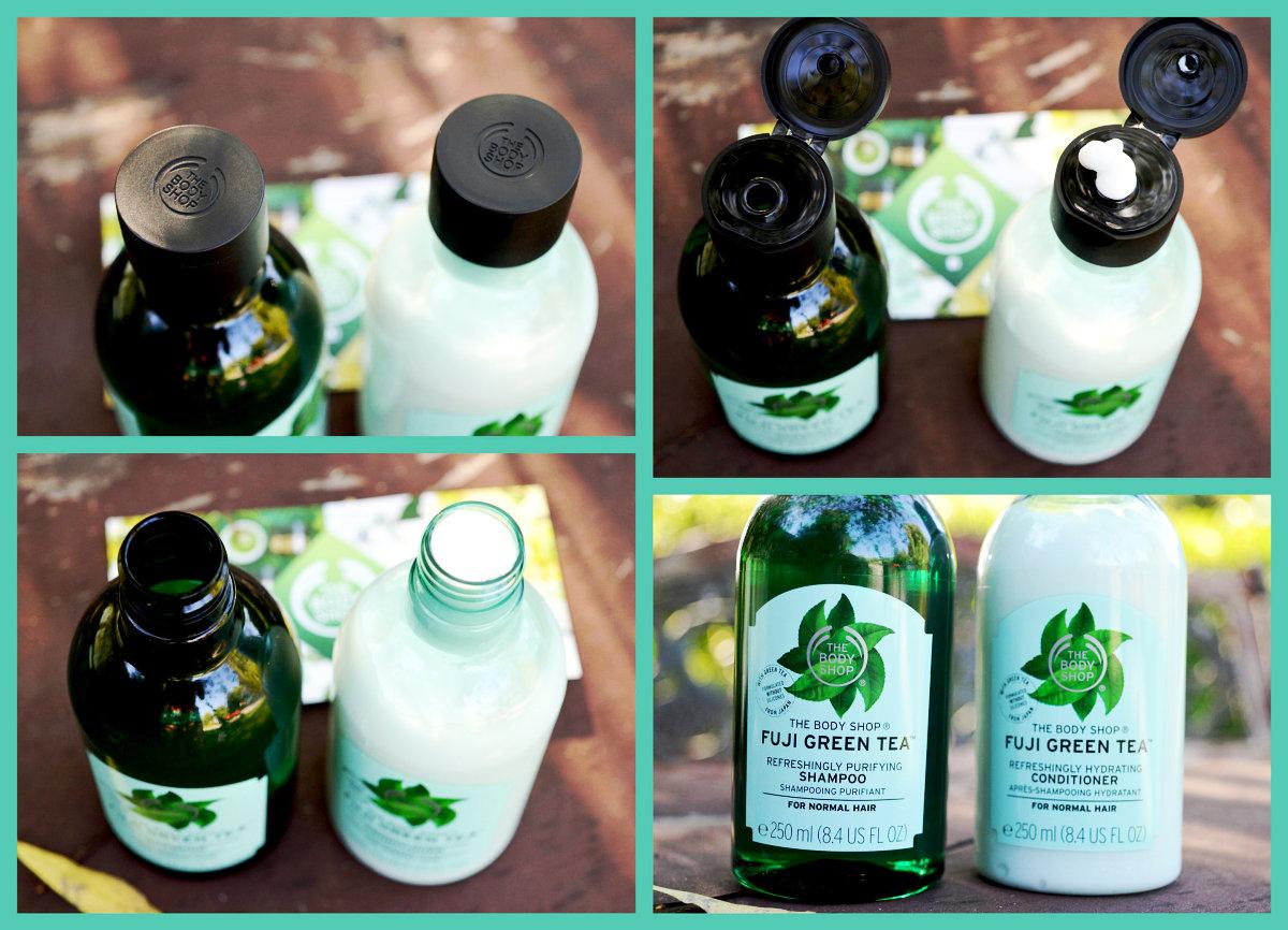 Šampon a kondicionér Fuji Green Tea zblízka