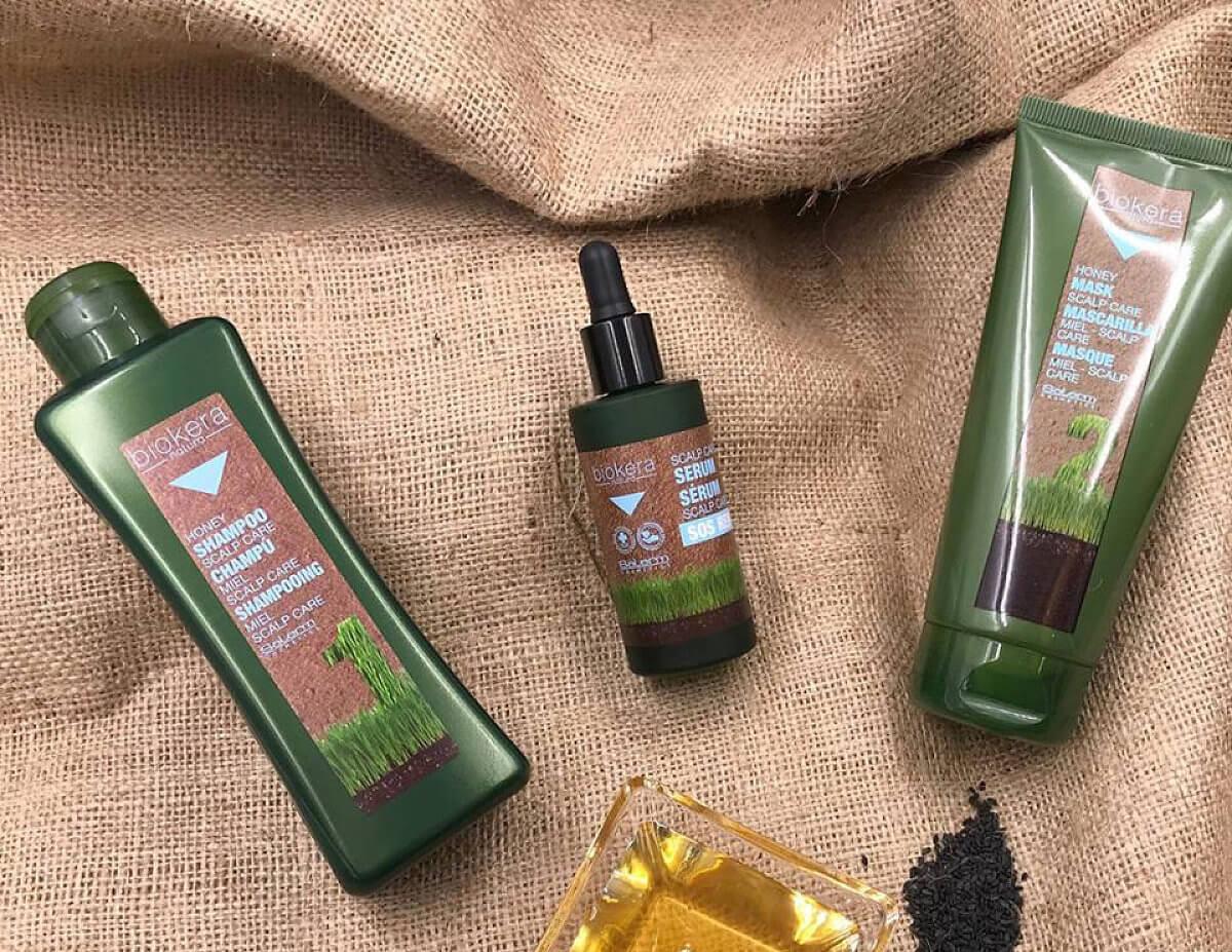 Salerm Biokera med a chia semínka pro citlivou vlasovou pokožku