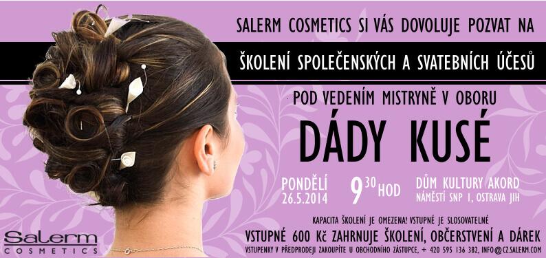 Školení společenských a svatebních účesů se Salerm Cosmetics
