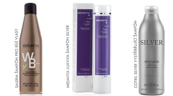 Vystříbřující Silver šampóny pro blond vlasy