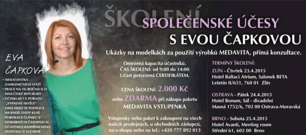 Společenské účesy s Evou Čapkovou