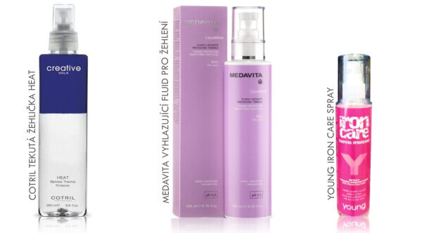 Termo aktivní vlasová kosmetika pro ochranu vlasů při žehlení
