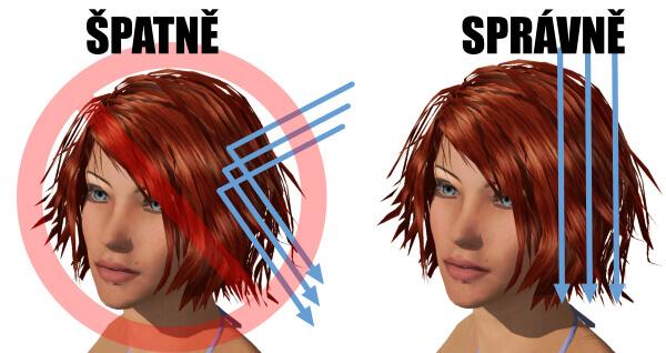 oplachování vlasů