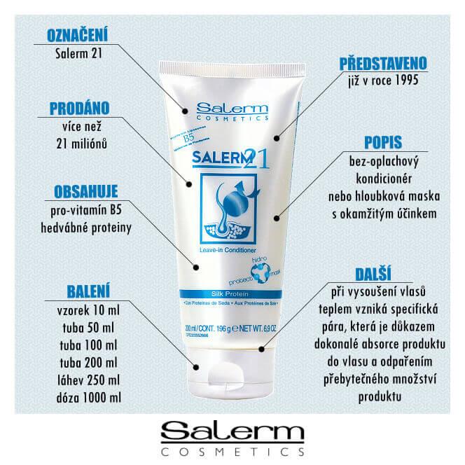 Salerm 21: Bez-oplachový kondicionér nebo hloubková maska s okamžitým účinkem